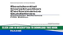 Best Seller Residential Construction Performance Guidelines, 5th edition, Consumer Reference Free