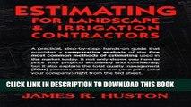 Ebook Estimating for Landscape   Irrigation Contractors Free Read
