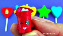 Learn Colors with Play Doh Lollipop Hearts and Stars Surprise Toys Minions Shopk