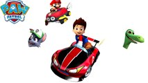 PAW PATROL Ryder Rocky & THE GOOD DINOSAUR Transform into MARIO KART│Transforming Videos for kids