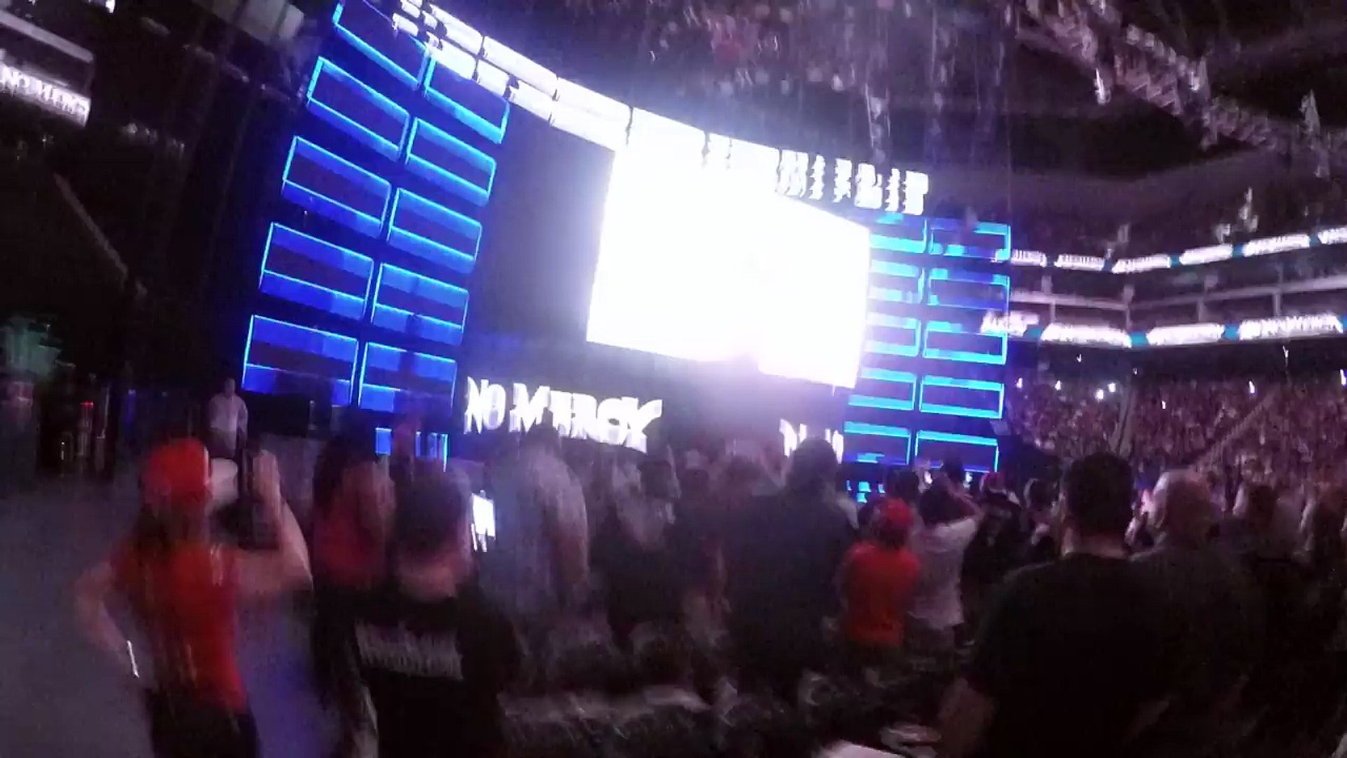 WWE No Mercy 2016 Intro and pyro (live near entrance ramp)