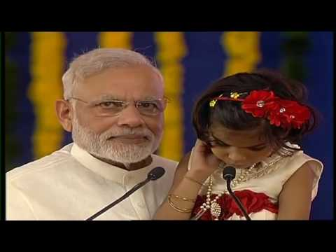 PM Modi birthday in Navsari A specially abled girl reads extract from Ramayana with PMO India