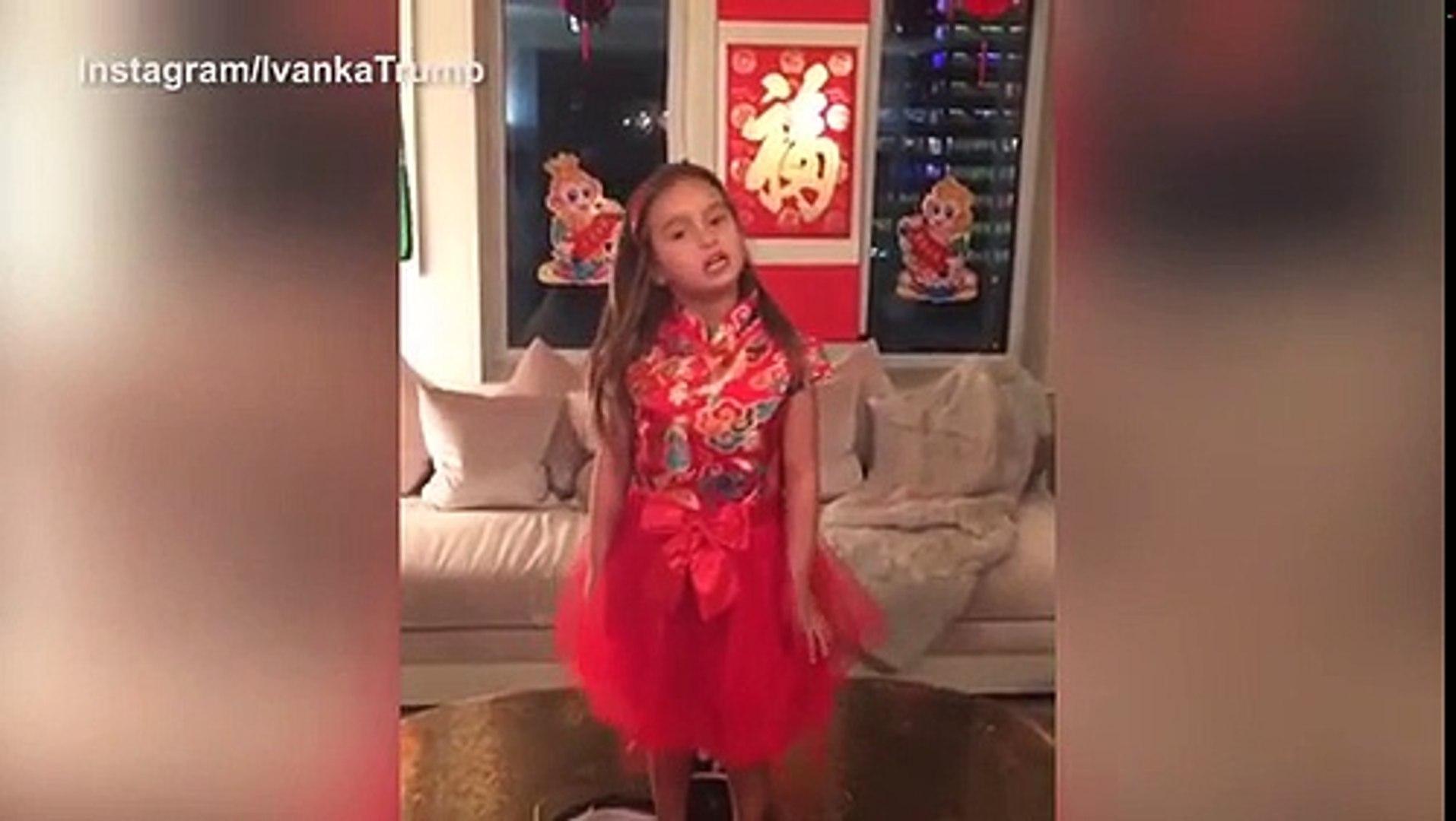 Đọc thơ Đường, cháu gái 5 tuổi của Donald Trump được lòng dân mạng Trung Quốc