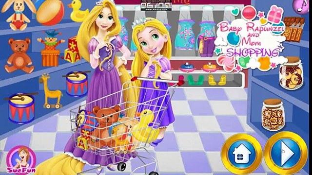Disney Rapunzel Games - Baby Rapunzel and Mom Shopping – Best Disney Princess Games For Girls And