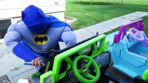 FUN Ride on Car Superhero Car Dance! Power Wheels Carpool! Batman, Superman | Comic Street Vehicles