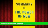 Best books  The Power of Now: by Eckhart Tolle | Summary   Analysis online