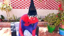 Spiderman Loses His Mask! w/ Frozen Elsa Pregnant, Pink Spidergirl vs maleficent! Funny Superheroes