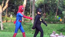 Spiderman Vs Hulk Vs Batman Real Life SuperHeroes Fight And Epic Rap Battles