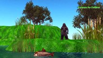 Crocodile Vs Godzilla Fight For Kids | Crocodile Cartoons For Children | Animal Fights Battles