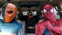 Superheroes Dancing in a Car: Spiderman Venom Batman - Movie in Real Life - Marvel - DC - Star Wars
