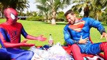 Spiderman & Superman vs joker - Superman Poo surprise eggs - Fun Superhero in Real Life