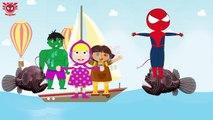 Spiderman vs Elsa Funny Pranks Collection 12 - Hulk Vs Masha And Dora Surf
