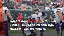 Vikings release kicker Blair Walsh
