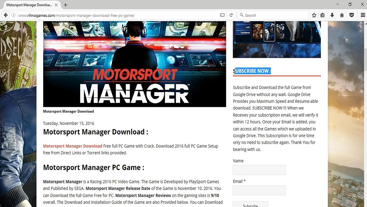 How to Download and Install Motorsport Manager Free on PC Without any Error  or Problem !!!