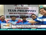5-man PH Paralympic team, sasabak na sa 2016 Rio Paralympics