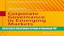 Read Corporate Governance in Emerging Markets: Theories, Practices and Cases (CSR, Sustainability,