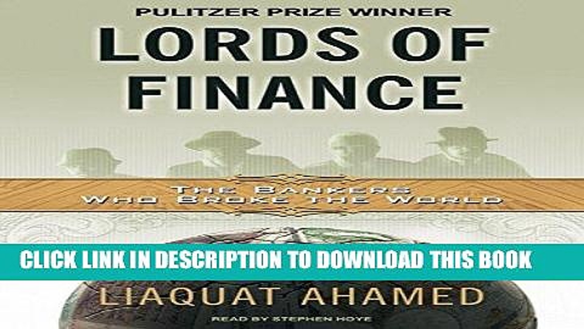 Best Seller Lords of Finance: The Bankers Who Broke the World [MP3 AUDIO] [UNABRIDGED] (MP3 CD)