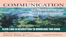 Best Seller Communication for Business and the Professions Free Read