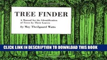 Best Seller Tree Finder: A Manual for Identification of Trees by their Leaves (Eastern US) (Nature