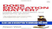 Best Seller Does Education Matter?: Myths About Education and Economic Growth (Penguin Business)