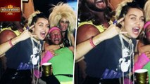 Miley Cyrus and Fiancée Liam Hemsworth Party Like The 80's   Hollywood Asia