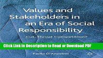 Read Values and Stakeholders in an Era of Social Responsibility: Cut-Throat Competition? Free Books