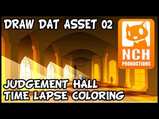Draw Dat ASSet. Judgement Hall Time-lapse drawing.
