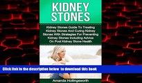 Read book  Kidney Stones: Kidney Stones Guide To Treatment Of Kidney Stones And Cure Of Kidney