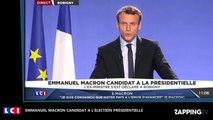 Emmanuel Macron candidat à l'élection présidentielle (Vidéo)