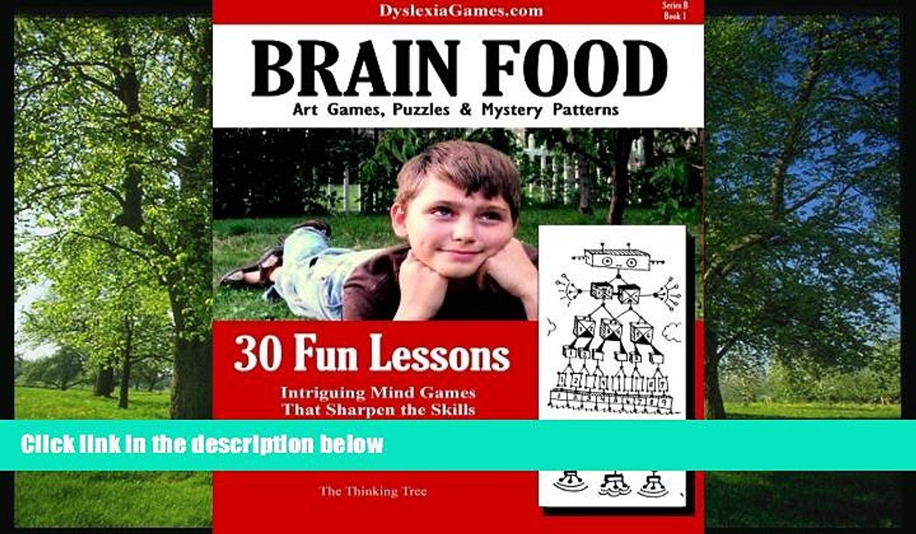 Online eBook Dyslexia Games - Brain Food - Series B Book 1 (Dyslexia Games Series B) (Volume 1)