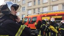 """Exercice """"feu réel"""" des pompiers du Calvados"""