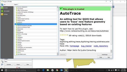 How to use Autotrace in QGIS 2016