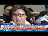 Sen. De Lima, umapela sa Justice Committee na huwag munang isara ang pagdinig ukol sa EJK sa bansa