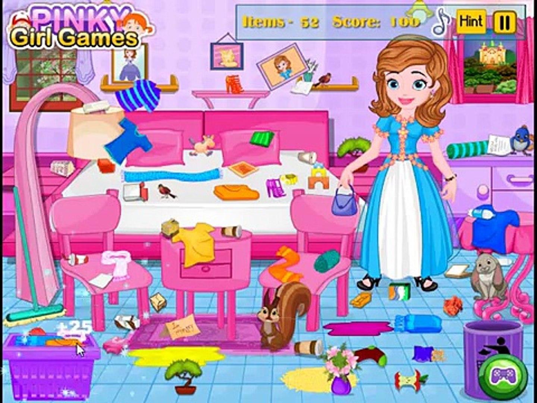 Мультик София хозяюшка. Уборка грязной комнаты ( Sofia hostess. Cleaning dirty room)