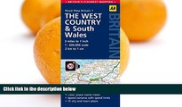 Buy NOW  West Country   Wales Road Map (AA Road Map Britain)  Premium Ebooks Best Seller in USA