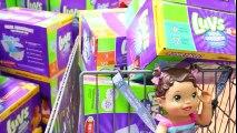 BABY ALIVE goes Shopping NEW TROLLS MOVIE TOYS Baby Eli Toy Birthday Shopping Toy HAUL Baby Poo Pee