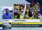 Ecuador: marchan simpatizantes de Alianza País hacia Consejo Electoral