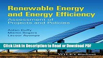 PDF Renewable Energy and Energy Efficiency: Assessment of Projects and Policies Free Books
