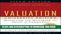 Best Seller Valuation: Measuring and Managing the Value of Companies, University Edition, 5th