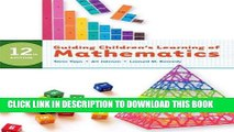 Best Seller Guiding Children s Learning of Mathematics, 12th Edition Free Read
