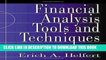 Best Seller Financial Analysis Tools and Techniques: A Guide for Managers Free Read