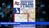Buy NOW  South West England and South Wales Road Map AZ (Great Britain Road Maps 5 Miles to 1