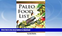 FAVORITE BOOK  Paleo Food List: Paleo Food Shopping List for the Supermarket; Diet Grocery list