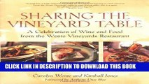Ebook Sharing the Vineyard Table: A Celebration of Wine and Food from the Wente Vineyards
