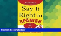 Ebook Best Deals  Say It Right in Spanish, 2nd Edition (Say It Right! Series)  BOOK ONLINE