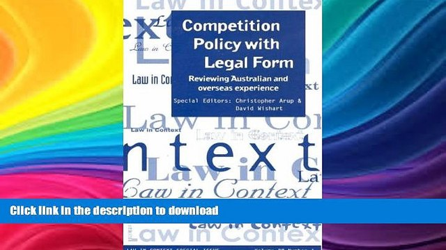 FAVORITE BOOK  Competition Policy with Legal Form: Reviewing Australian   Overseas Experience