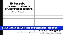 [PDF] Blank Comic Book: White Cover, 4 Panel, 7.5 x 9.25, 130 Pages, comic panel,For drawing your