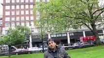 یوسف جان لندن میں نواز شریف کے بلڈنگ کے سامنے کهڑے ہوکر اسکے سپورٹرز ، اتحادیوں اور بے حس پاکستانیوں کو شرم دلانے کی کوشش کر رہے ہیں. .