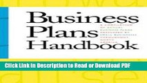 Read Business Plans Handbook: A Compilation of Actual Business Plans Developed By Small Businesses