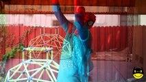 UGLY Maleficent Joker Pink Spidergirl Anna! Funny Superheroes w/ Spiderman Frozen Elsa TONGUE TWIST